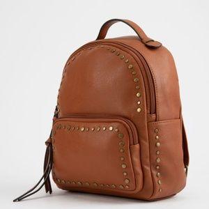 VIOLET RAY Cognac Mini Backpack